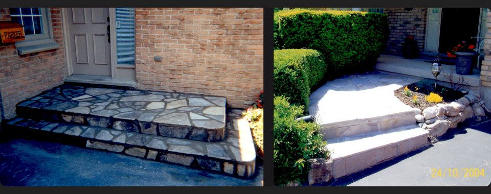 Stone patio and stone walkway 2